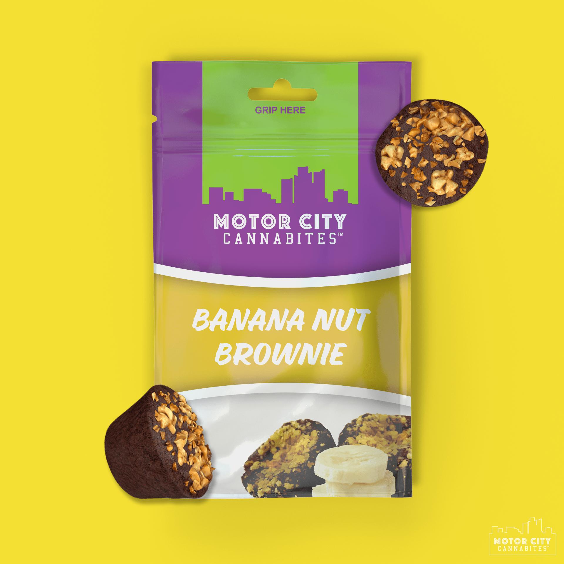 Banana Nut Brownie Cannabis Edible - Motor City Cannabites