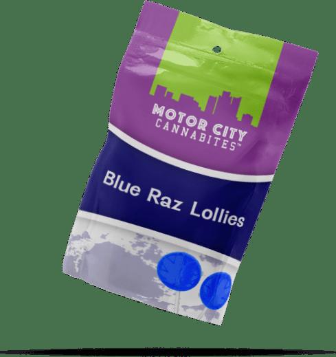 Blue Raz Lollipop Cannabis Edible