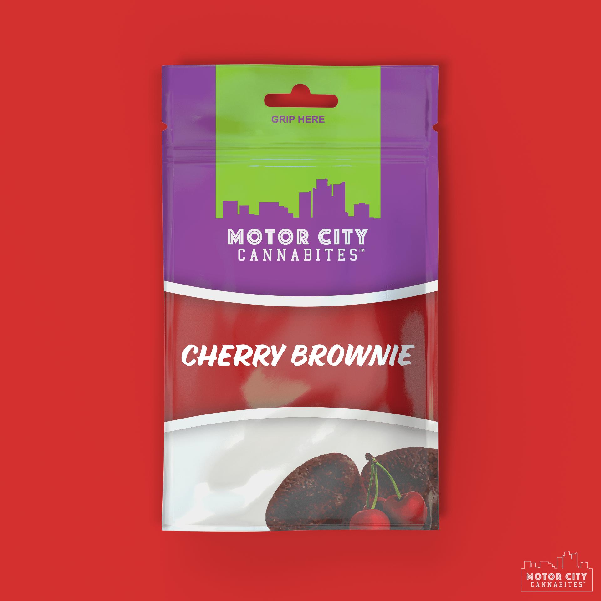 Cherry Brownie Cannabis Edible - Motor City Cannabites