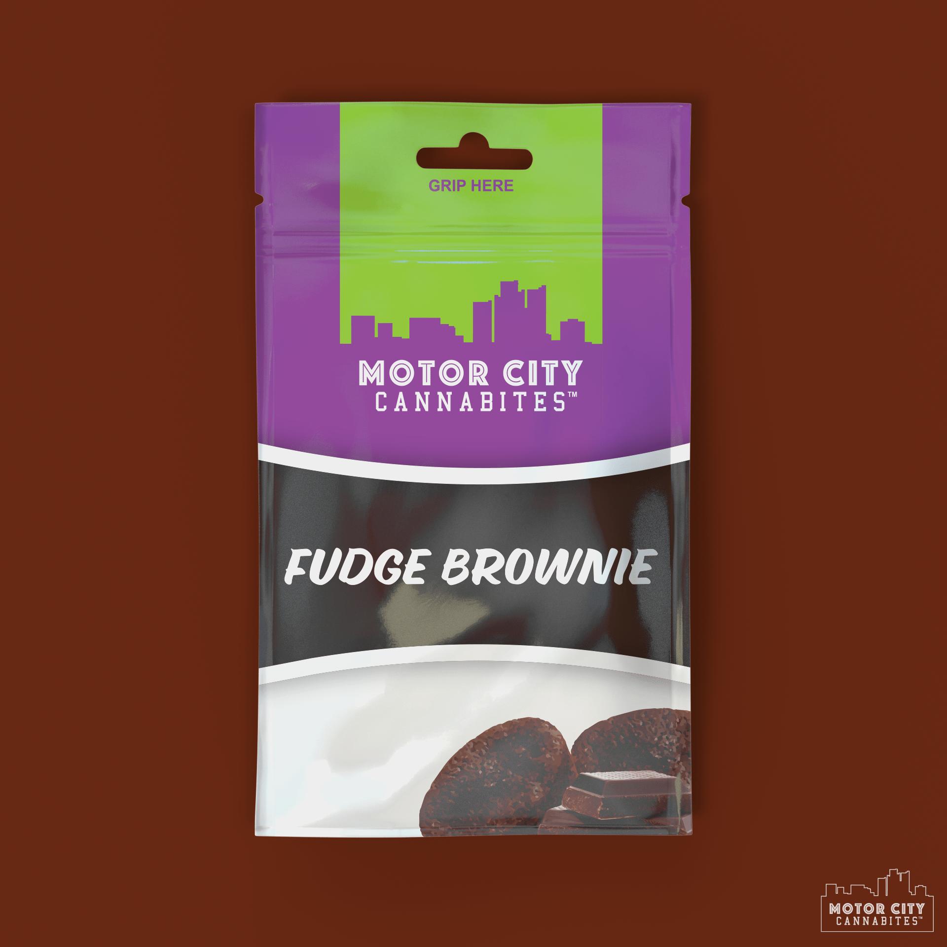 Fudge Brownie Cannabis Edible - Motor City Cannabites