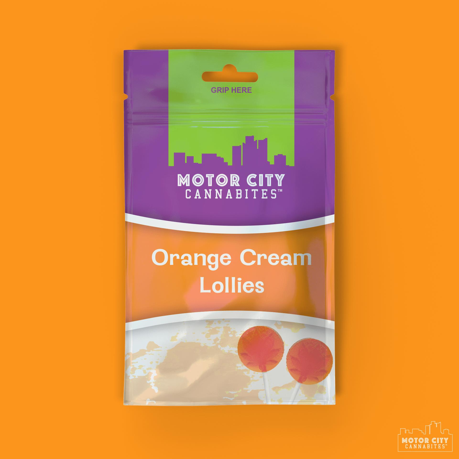 Orange Cream Lollipop Cannabis Edible - Motor City Cannabites