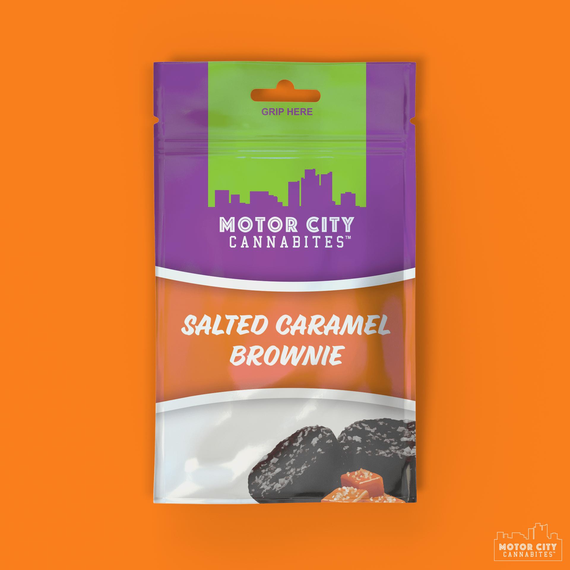Salted Caramel Brownie Cannabis Edible - Motor City Cannabites