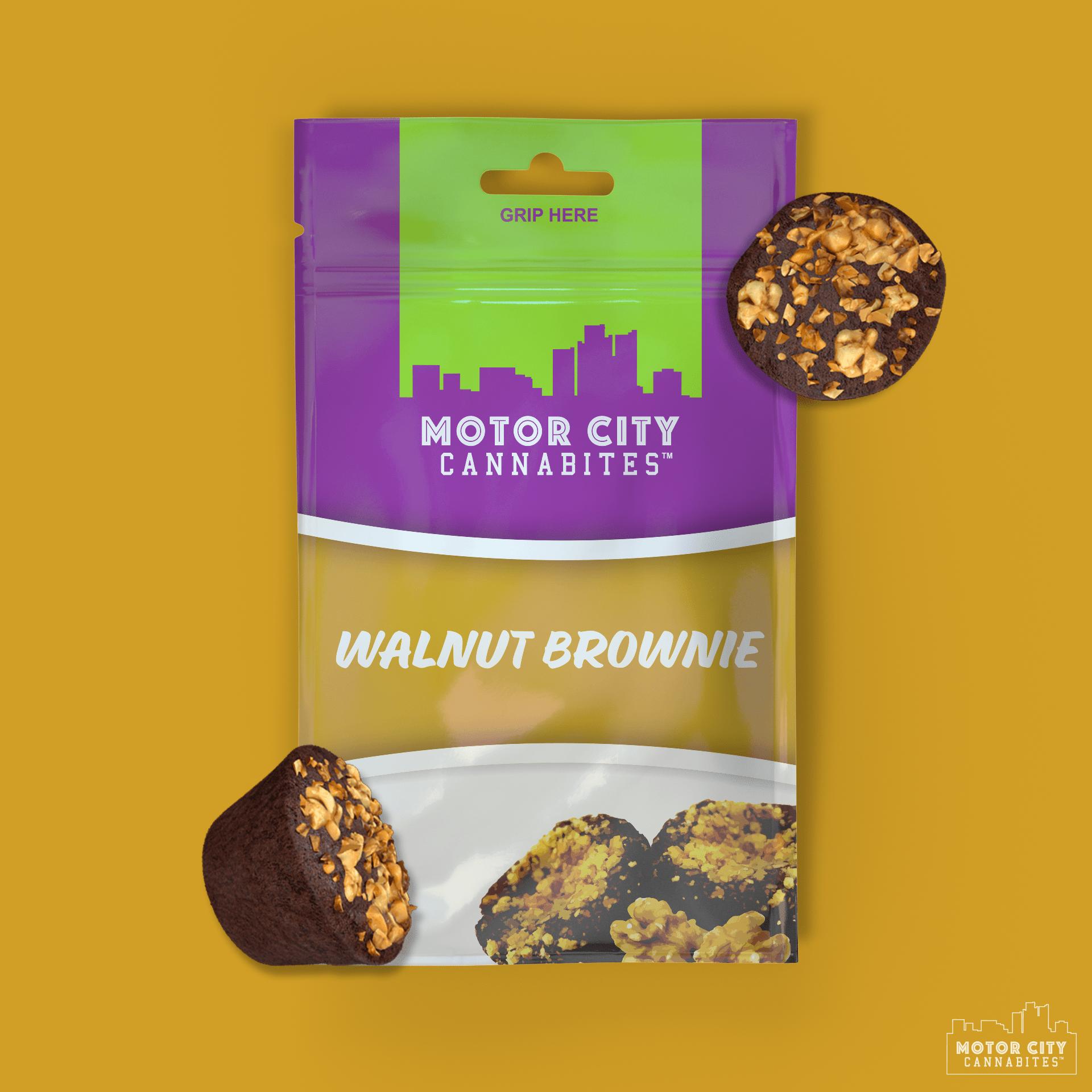Walnut Brownie Cannabis Edible - Motor City Cannabites